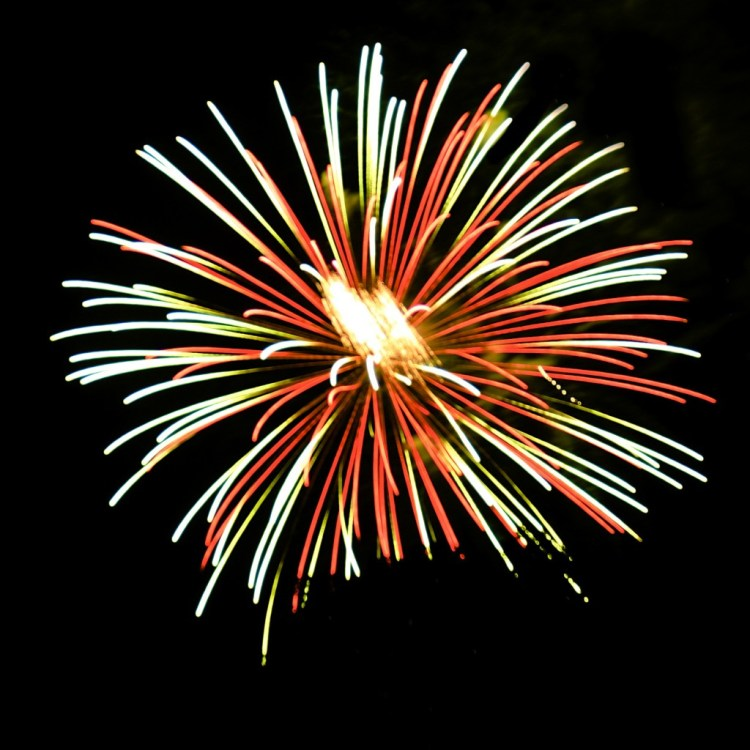 edited fireworks photo