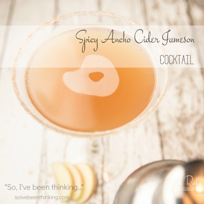 Spicy Ancho Cider Jameson Cocktail