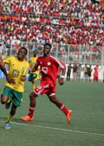 Gabeye  in action for Big Bullets in a league match