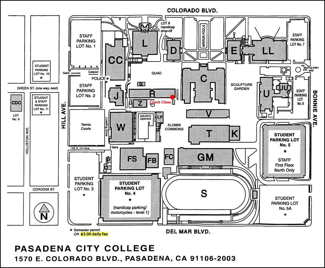 Pcc Downtown Map Campus