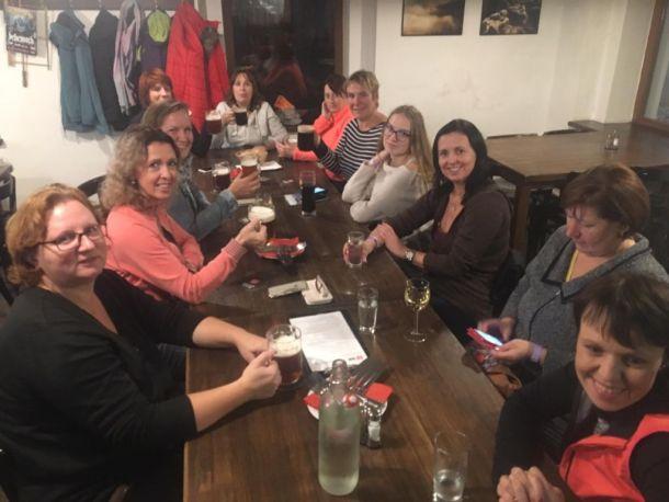 Cvičení v Krásné Lípě – 11-2018 - Konečná zastávka v pivovaru