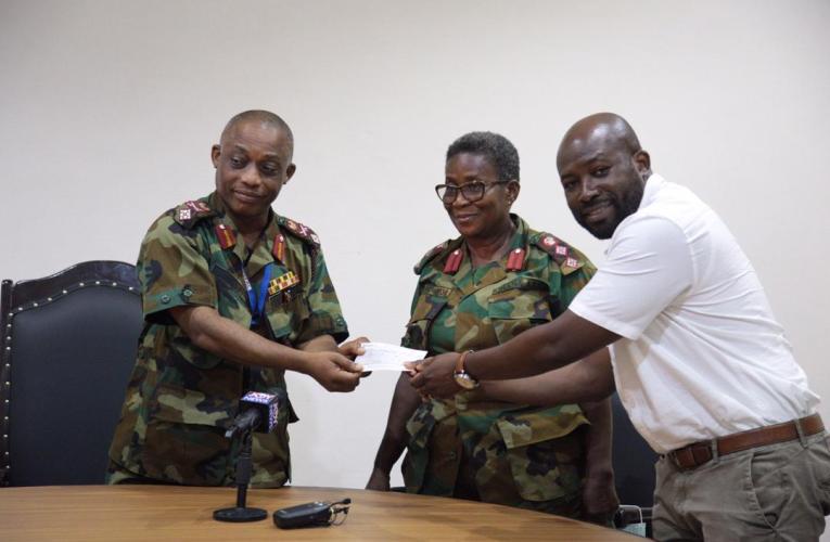 Senyo Hosi, family donate to 37 Military Hospital to help fight against coronavirus