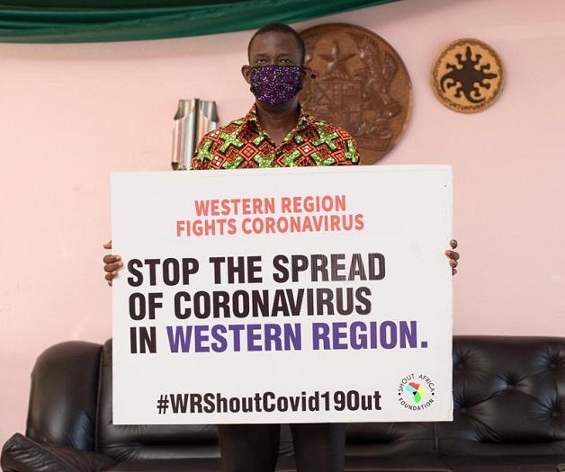 Shout Africa Foundation joins COVID 19 fight in Western Region