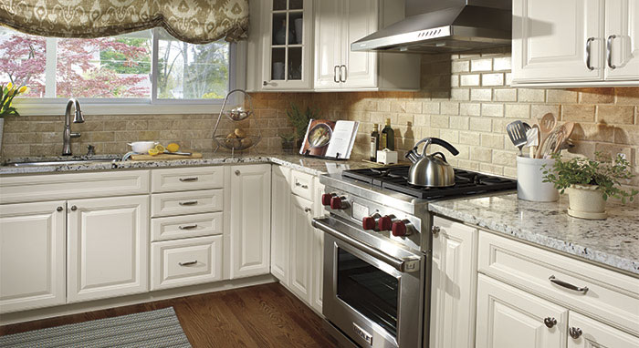 off white kitchen cabinets four hole faucets colonial granite backsplash ideas