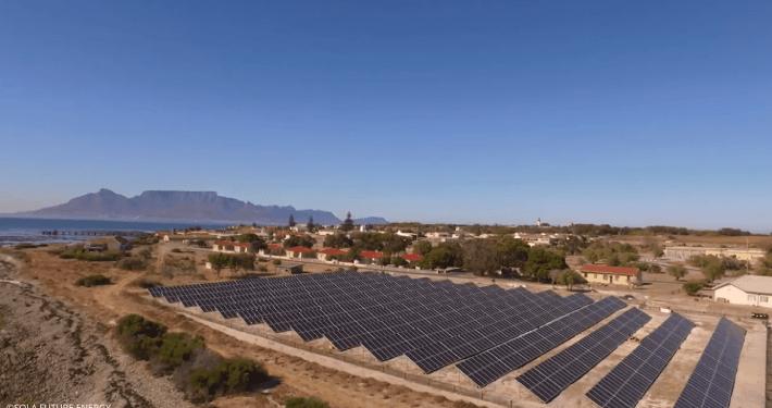 Robben Island solar PV microgrid