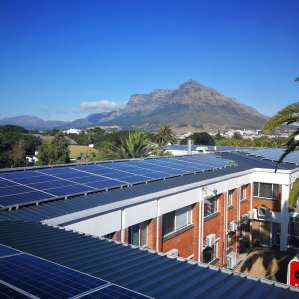 Western Cape Blood Service solar PV system