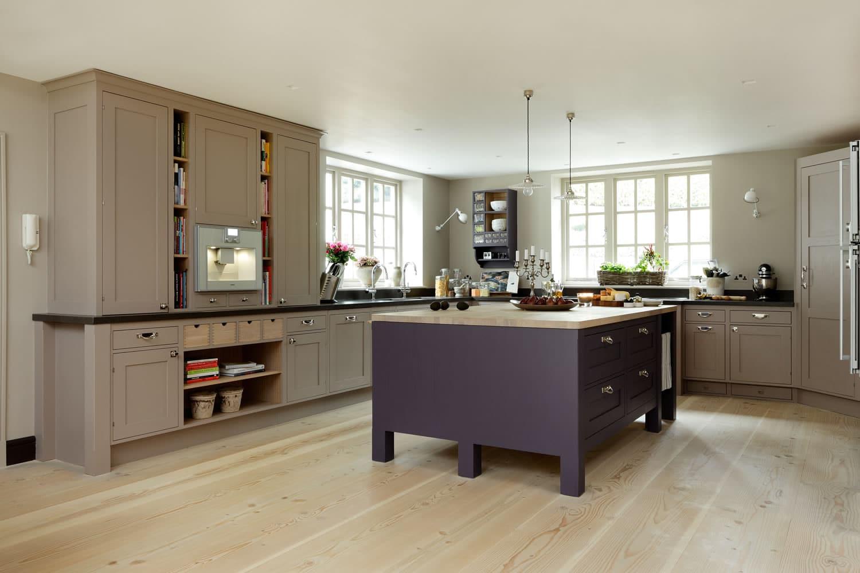 Frillen In Aubegine And Mink Sola Kitchens Sola Kitchens