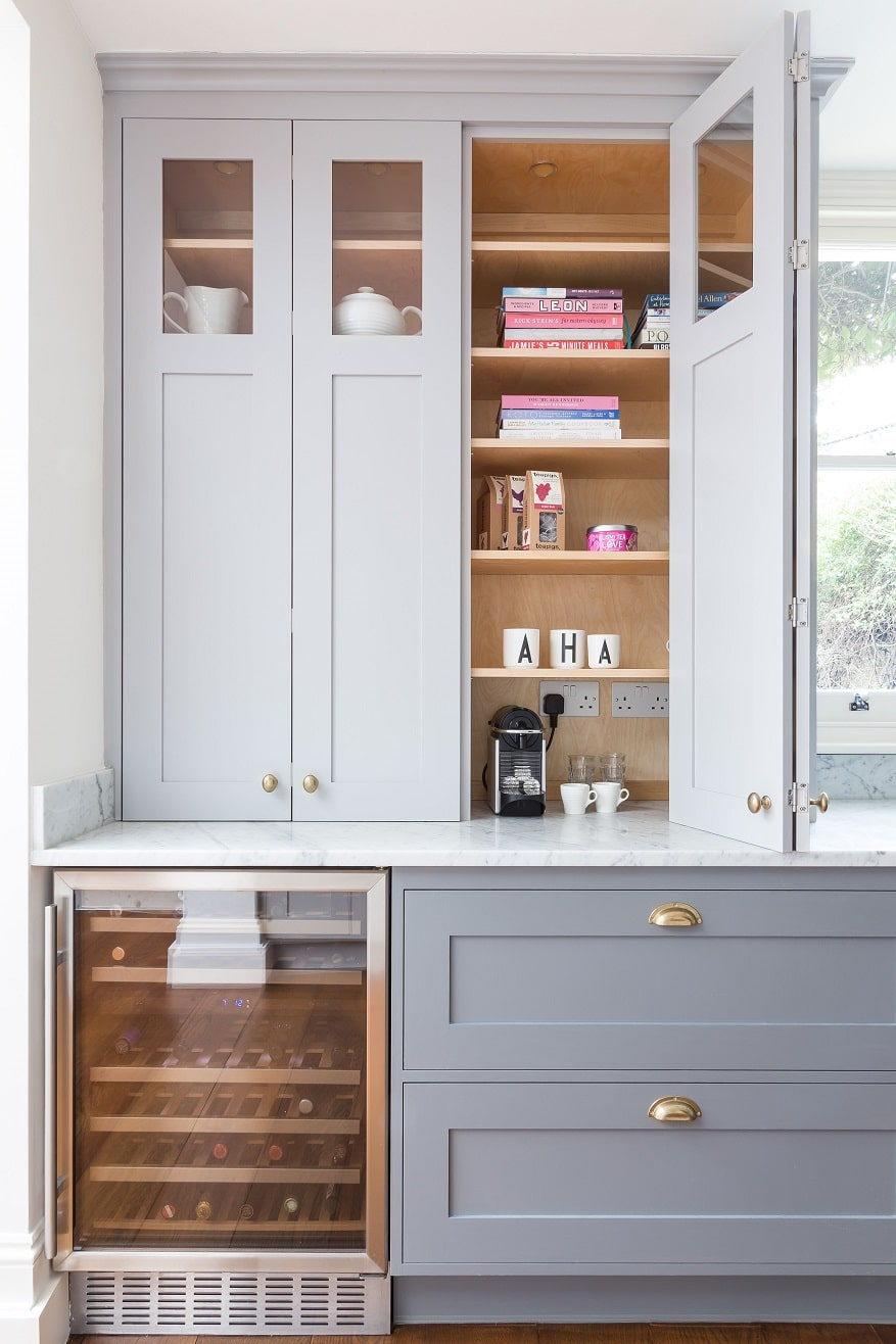 Frillen in grey and brass  Sola Kitchens  Sola Kitchens