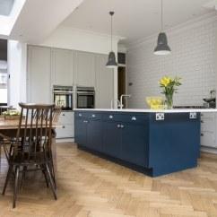 Blue Kitchen Island Best Degreaser Frillen With Hague Sola Kitchens