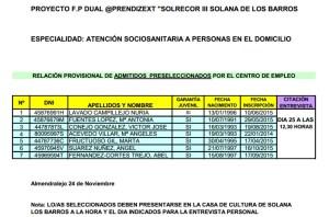 LISTADO DEFINITIVO ADMITIDOS SOLRECOR III