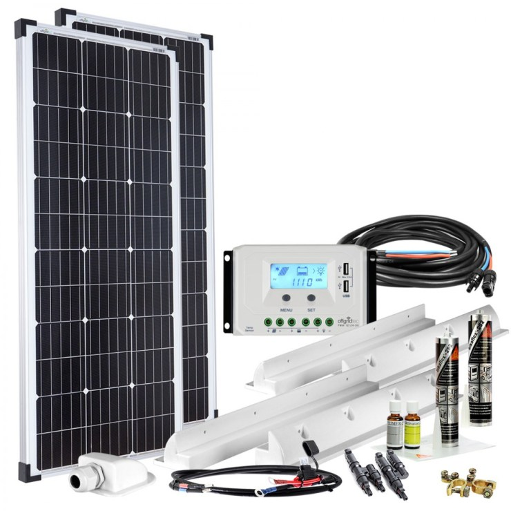 Solaranlage Wohnmobil Komplett Set 200W
