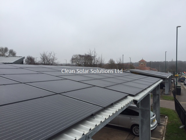 UK's Largest Solar Carport Cleaned In Nottingham