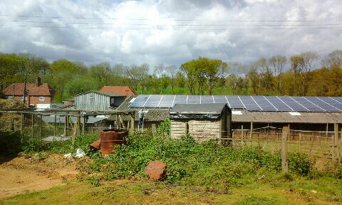 Solar Panels Near Oxted Sand Quarry Benefit From Cleaning