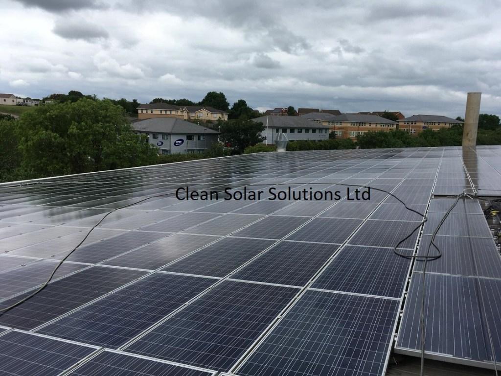 Clean solar panels in Bristol