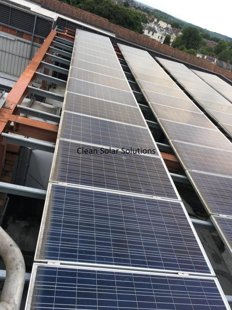 Dirty solar panels in Canterbury