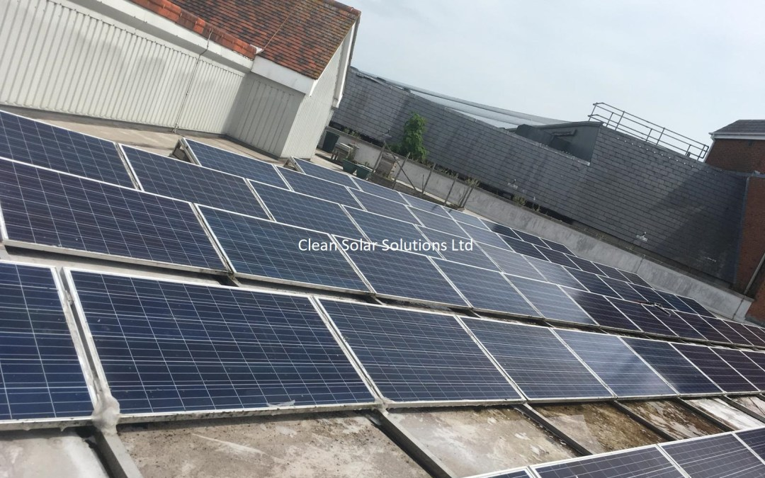 Solar Panel Cleaning In Canterbury -White Friars Shopping Centre