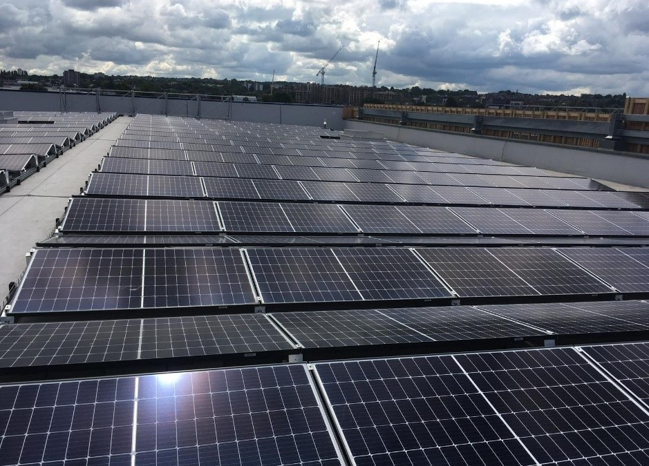 Solar Panel Cleaning Completed On Greenwich Furniture Store