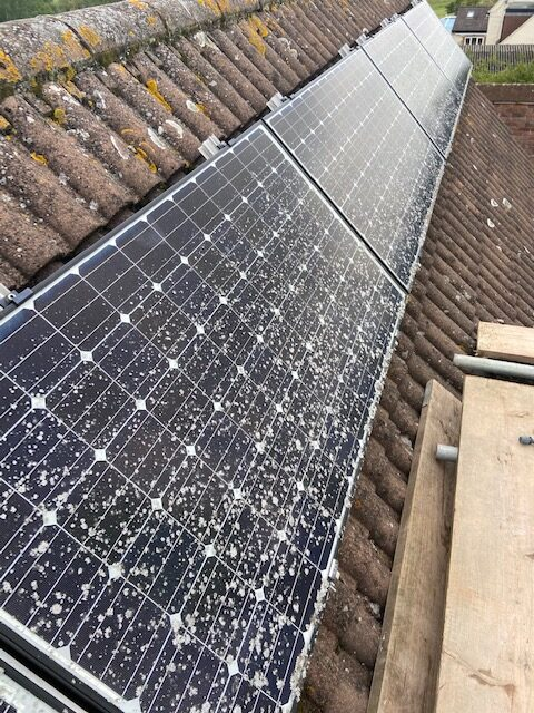 Solar panels that need cleaning in Gloucester