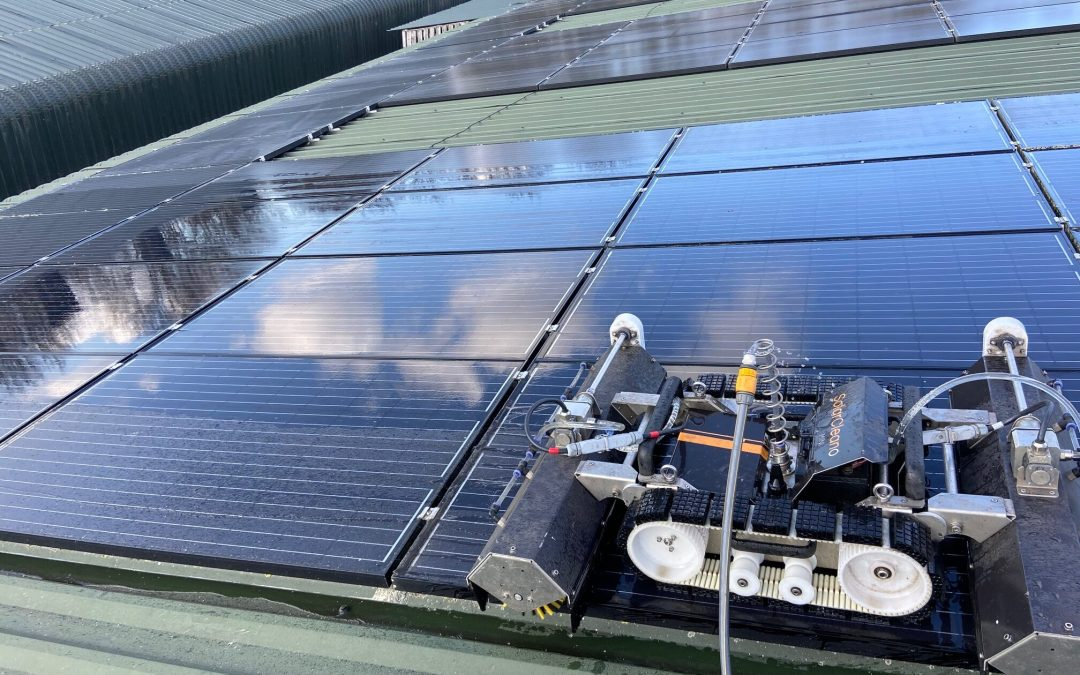 Solar Panel Cleaning In Stowmarket – Poultry Farm