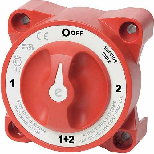 Blue Sea BS9001E Switch Battery E-Series select 4 Position