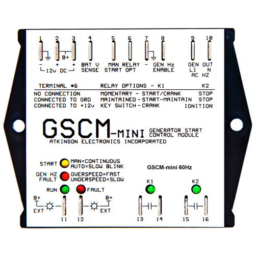 Atkinson Electronics GSCM-mini-i Generator Start Control Module