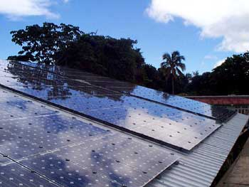 Solar PV system at Harrison's Cave, St. Thomas, Barbados