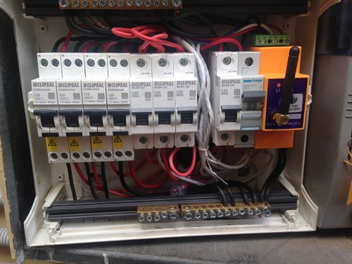 small resolution of solar analytics hardware alongside circuit breakers in my meter box