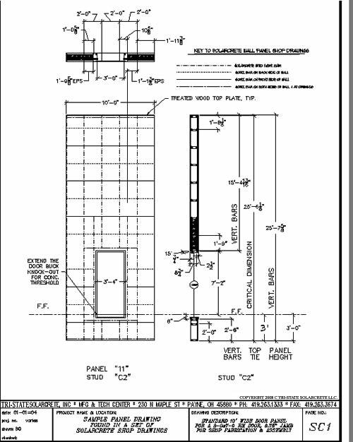 Overhead Door and Window design details for the Solarcrete