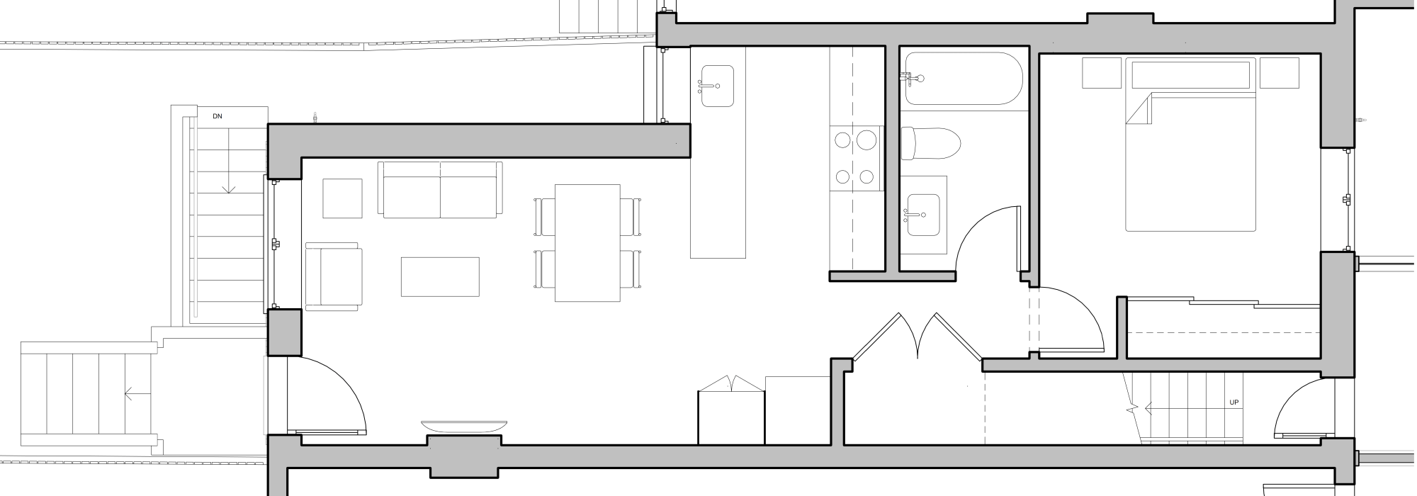 hight resolution of the bedroom tucked into the front of the house overlooks the street and the triple glazed windows bring in lots of light while keeping ambient