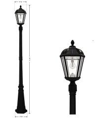 Royal Single Solar Lamp Post with GS LED Bulb