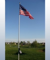 Solar Spot Lights Outdoor Flag Pole