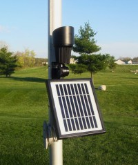 Warm Toned High Intensity Accent Solar Spotlight or Flag Light