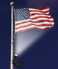 Solar Powered LED Flag Light