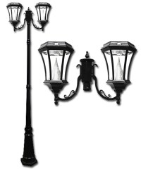 Victorian Solar Lamp Post Double