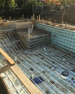 Installation of hydronic coils to a pool