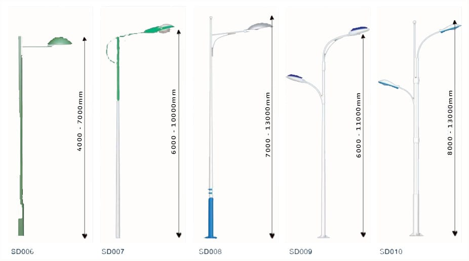 Pole design 4 white - Solar Pole Lights