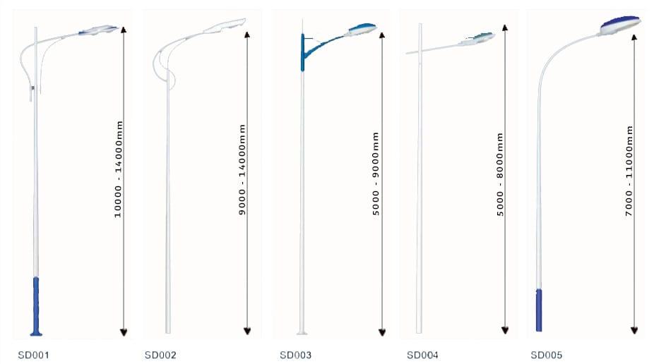 Pole design 3 white - Solar Pole Lights