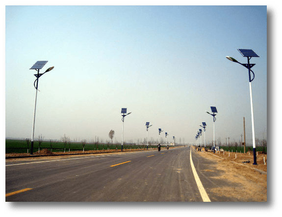 application Solar Garden Lights