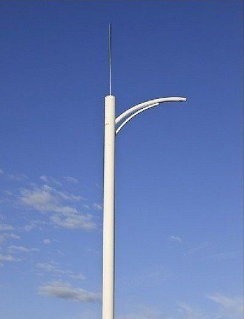 Single-needle-lightning-rod-1 How to protect solar street lights against lightning