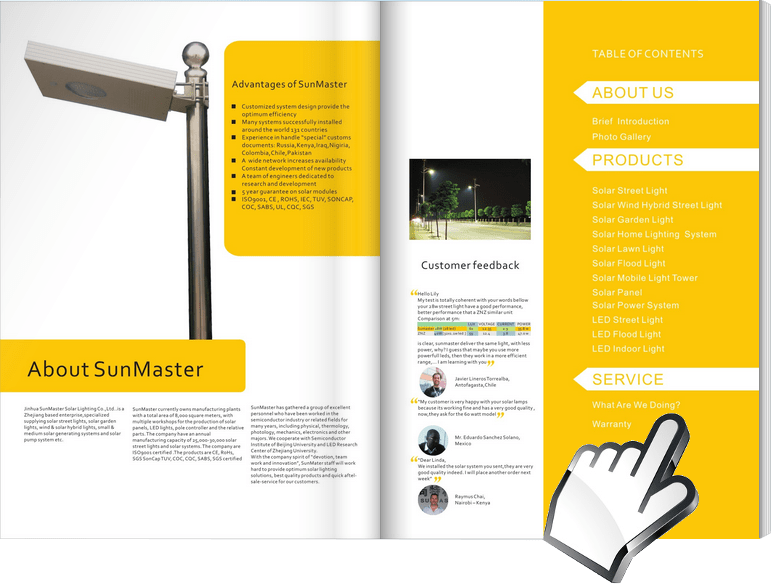 Solar-Street-Lights-Catalogue Sunmaster - Solar street light