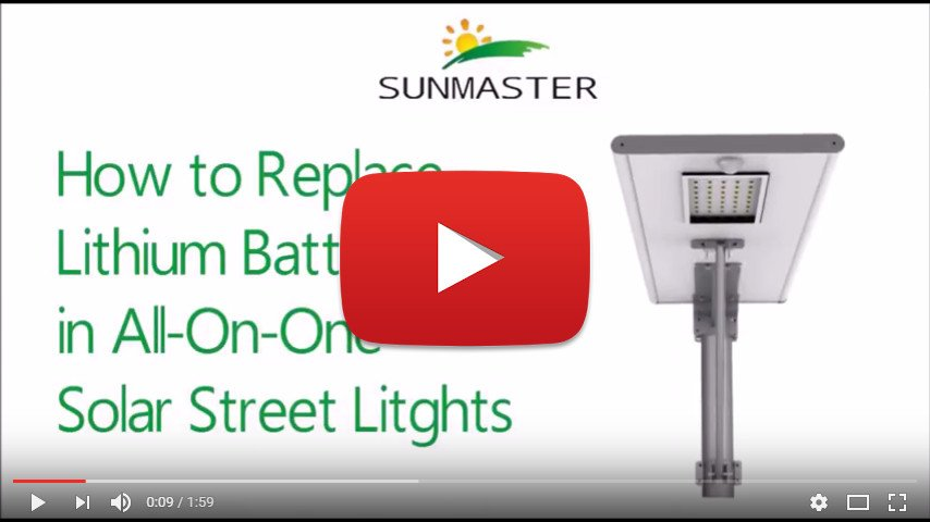 How-To-Replace-a-Lithium-Battery All in one solar street light