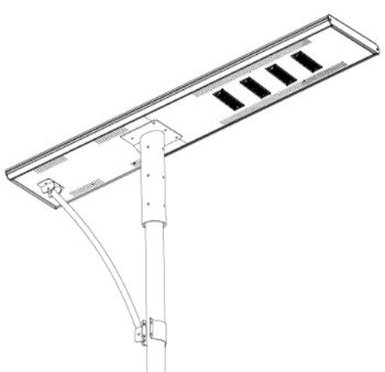 120W - All in one solar street light