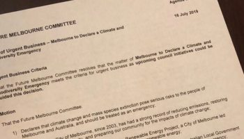 City Of Adelaide (Council) Declares Climate Emergency
