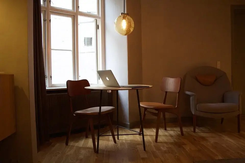 Furniture in front of a window