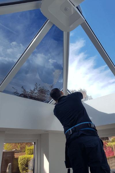 Window Film being installed