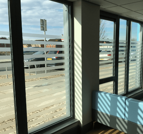 Frosted Window Film Stripes