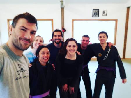 Rob Biernacki of Island Top Team at Solarte BJJ in Sequim