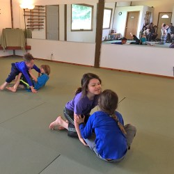 youth BJJ in Sequim rolling