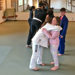 Bowing line after Youth BJJ Solarte class