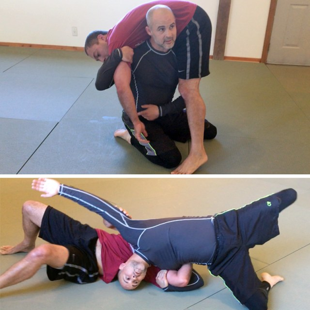 Chris Loe teaching Sequim adult wrestling class at Solarte BJJ